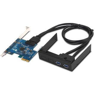Silverstone SST-EC03 Internal Dual Port USB 3.0 Card schwarz