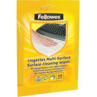 Fellowes GmbH Oberflächen Reinigungstuch 100 Stück Nachfüllpack (99716)