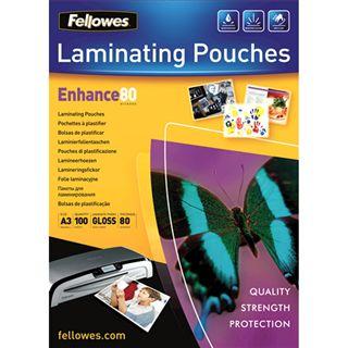 Glänzende Fellowes GmbH Laminierfolientaschen, A3, 303 x 426 mm, 80µ