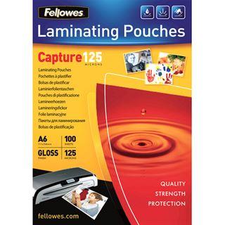 Glänzende Fellowes GmbH Laminierfolientaschen, A6, 154x 111 mm, 125µ