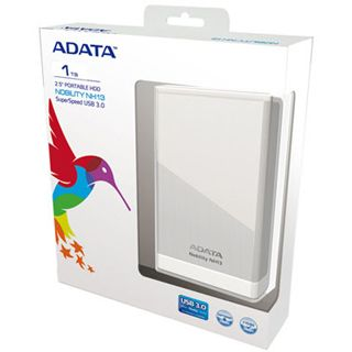 "1000GB ADATA Nobility NH13 ANH13-1TU3-CSV 2.5"" (6.4cm) USB 3.0 silber Alu"
