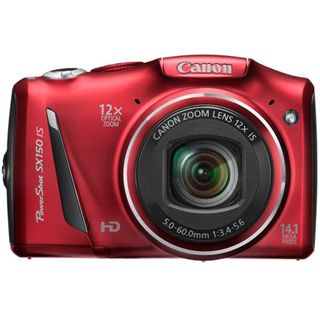 Canon PowerShot SX150 IS rot - 14,1 Mpix, 12x opt. Zoom, 720
