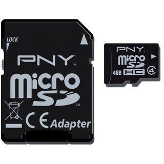 4 GB PNY Optima SDHC Class 4 Retail inkl. Adapter