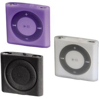 Hama MP3-Taschen-Set Sport Case für iPod shuffle 4G, Transparent/Schwarz/Lila