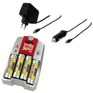 Hama Set Schnell-Ladegerät Delta Solid² 2/4 und 4x AA 2400