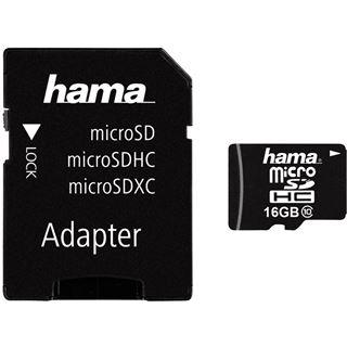16 GB Hama Foto microSDHC Class 10 Retail inkl. Adapter