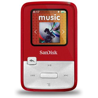 4GB SanDisk Sansa MP3 Clip Zip Red 4GB (SDMX22-004G-E46R) retail