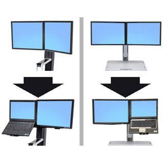 Ergotron WorkFit-S Dual Display Mount