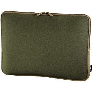 Hama Notebook-Sleeve Neoprene, Displaygrößen bis 40 cm (15,6), Grün/Braun
