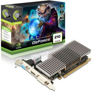 512MB Point of View GeForce 210 Passiv PCIe 2.0 x16 (Retail)