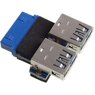 Xigmatek 2x USB 3.0 Adapterstecker für USB 3.0 19pol (COU-UBCFBP-U01)
