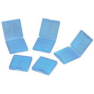 Hama Game-Case-Set 5in1 für Nintendo 3DS- und DS-Spiele, Transparent/Blau