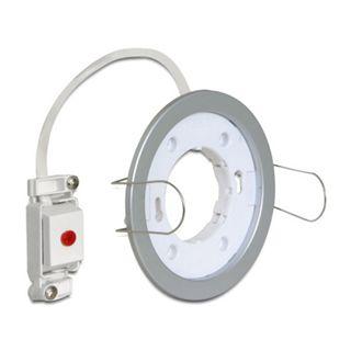 Delock Lampenfassung GX53 Einbaufassung rund Typ D silber