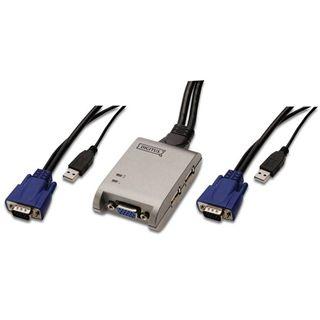 Digitus DS-11200 2-fach Kabel KVM-Switch