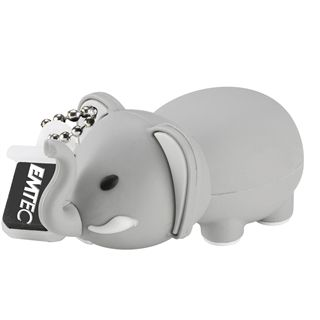 4 GB EMTEC Animals M323 Elephant grau USB 2.0