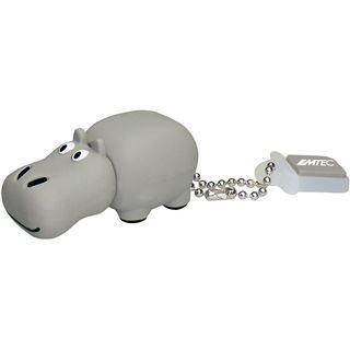 4 GB EMTEC Animals M324 Hippo grau USB 2.0