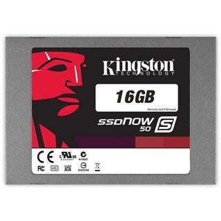 """16GB Kingston SSDNow S50 2.5"""" (6.4cm) SATA 3Gb/s MLC asynchron (SS050S2/16G)"""