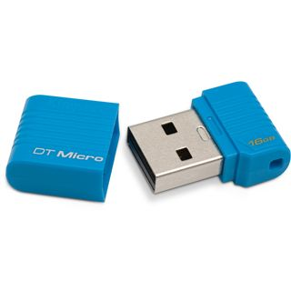 16 GB Kingston DataTraveler Micro blau USB 2.0