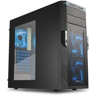 Sharkoon T28 Midi Tower ohne Netzteil schwarz/blau