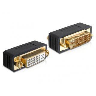 Delock Adapter DVI 24+5 Stecker auf DVI 24+5 Buchse Schwarz