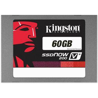 """60GB Kingston SSDNow V+ 200 2.5"""" (6.4cm) SATA 6Gb/s MLC asynchron (SVP200S3/60G)"""