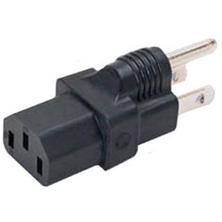 Good Connections Stromadapter Stecker USA auf Kaltgeräte Buchse Schwarz