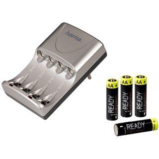 Hama Set Ladegerät Delta Ready Pro und 4x AA 2200 Ready 4 Power