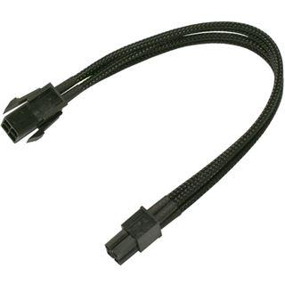 Nanoxia 30 cm schwarzes Verlängerungskabel für 4-Pin P4 (NXP4V3E)