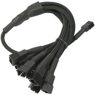 Nanoxia 60 cm schwarzes Adapterkabel für 3-Pin Molex zu 9x 3-Pin (NX39A60)