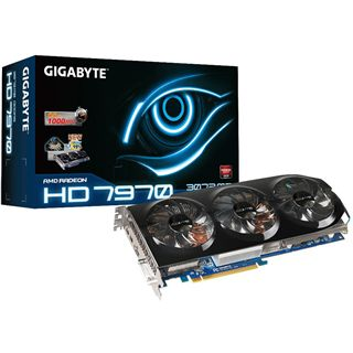 3072MB Gigabyte Radeon HD 7970 Windforce 3X Aktiv PCIe 3.0 x16 (Retail)