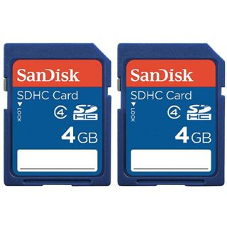 4 GB SanDisk Value SD Class 2 Retail 2er-Pack