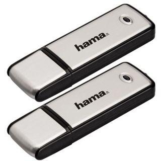 "4 GB Hama FlashPen ""Fancy"" Doppelpack schwarz/silber USB 2.0"