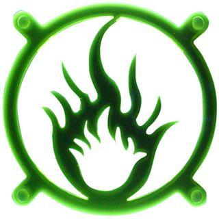 Bitspower Fire UV grün Lüftergitter für 80mm Lüfter (TG6S32)