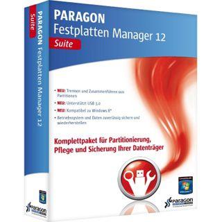 Paragon Festplatten Manager 2012 Suite 32/64 Bit Deutsch Tool Vollversion PC (CD)