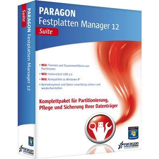 Paragon Festplatten Manager 12 Pro 32/64 Bit Deutsch Utilities Vollversion PC (DVD)