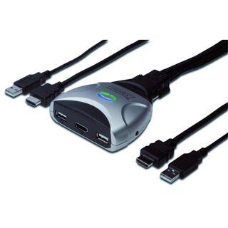 Digitus DS-11900 2-fach Kabel KVM-Switch