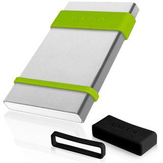"""ICY BOX IB-252StU3 2.5"""" (6,35cm) USB 3.0 silber/grün"""