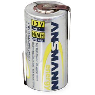 ANSMANN maxE Sub-C mit Lötfahnen Nickel-Metall-Hydrid 3000 mAh 1er Pack