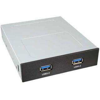 """InLine 2x USB 3.0 schwarz Front Panel für 3,5"""" (33394C)"""