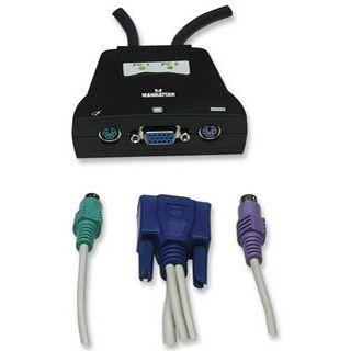 Intellinet 151238 2-fach Kabel KVM-Switch