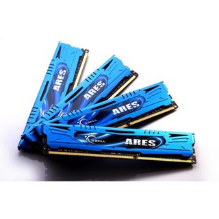 16GB G.Skill Ares blau DDR3-1600 DIMM CL9 Quad Kit
