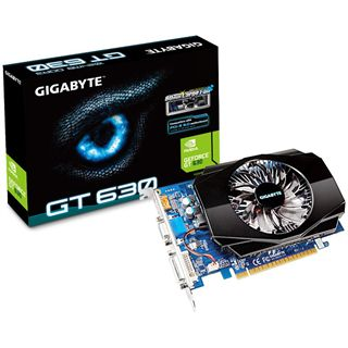 1GB Gigabyte GeForce GT 630 Aktiv PCIe 2.0 x16 (Retail)