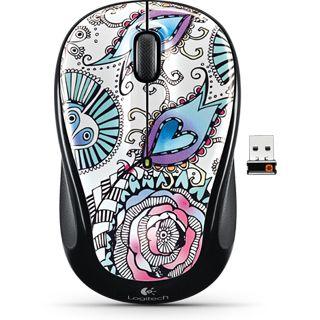 Logitech M325 Wireless Optische USB Maus Floral Foray