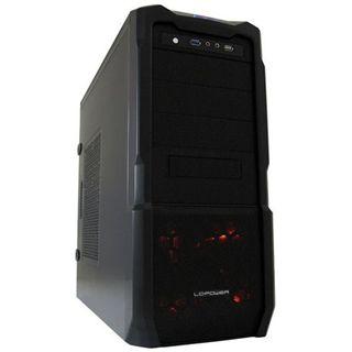 LC-Power Pro 923B Red Captor Midi Tower ohne Netzteil schwarz