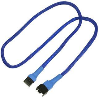 Nanoxia 60 cm blaues Verlängerungskabel für 4-Pin PWM (NXPWV60B)