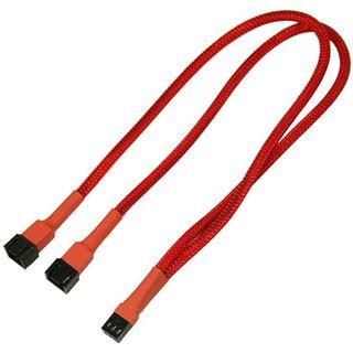 Nanoxia 30 cm rotes Y-Kabel für 3-Pin Molex (NX3PY30R)