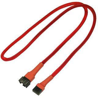 Nanoxia 60 cm rotes Verlängerungskabel für 4-Pin PWM (NXPWV60R)