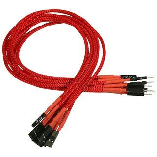 Nanoxia 30 cm rotes einzelsleeve Verlängerungskabel für Frontpanel (NXFPV3ER)