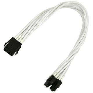 Nanoxia 30 cm weißes Verlängerungskabel für 8-Pin EPS zu 2x 4-Pin EPS (NX8PV3EW)