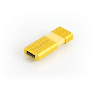 16 GB Verbatim PinStripe gelb USB 2.0